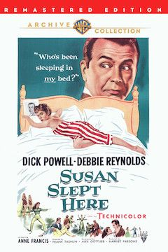 Susan Slept Here movie poster.