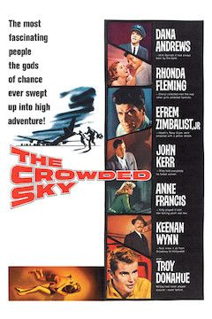 The Crowded Sky movie poster.