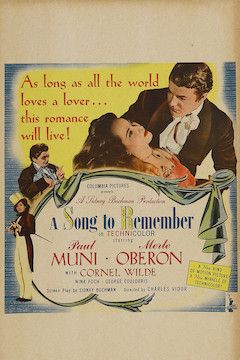 A Song to Remember movie poster.
