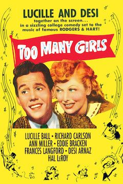 Too Many Girls movie poster.