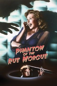 Phantom of the Rue Morgue movie poster.