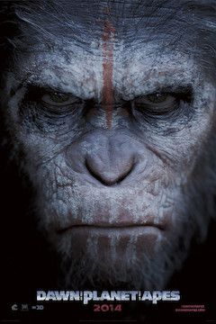 Dawn of the Planet of the Apes movie poster.