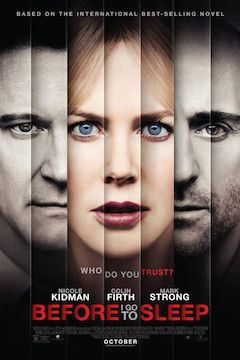 Before I Go to Sleep movie poster.