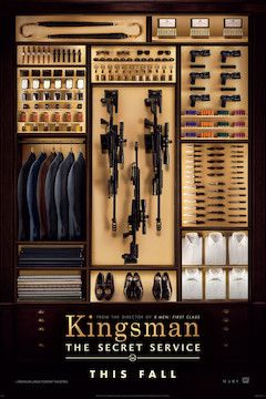 Kingsman: The Secret Service movie poster.