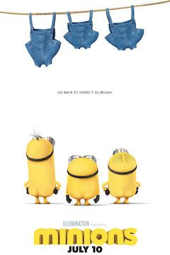 Minions movie poster.