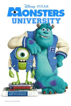 Monsters University movie poster.