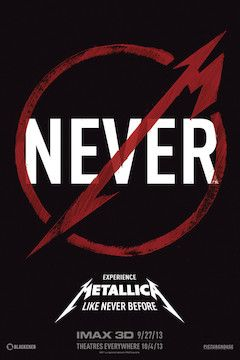 Metallica Through the Never movie poster.