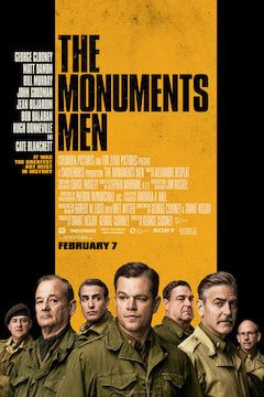 The Monuments Men movie poster.