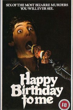 Happy Birthday to Me movie poster.