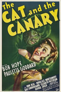 The Cat and the Canary movie poster.