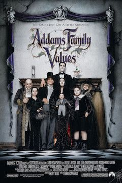 Addams Family Values movie poster.