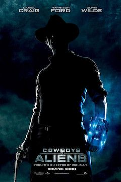 Poster for the movie Cowboys and Aliens