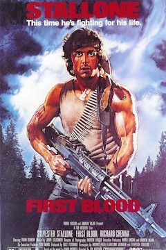 First Blood movie poster.