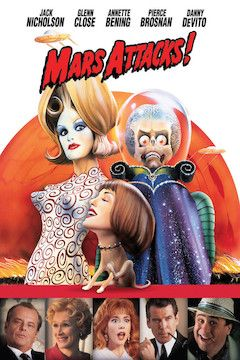 Poster for the movie Mars Attacks!