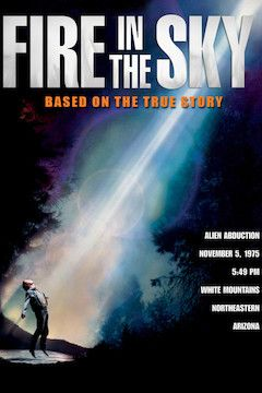 Fire in the Sky movie poster.