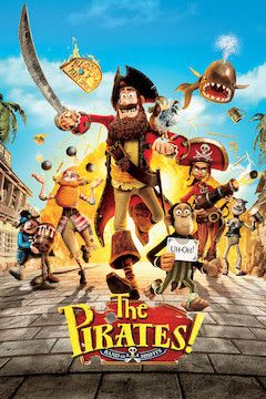 The Pirates! Band of Misfits movie poster.