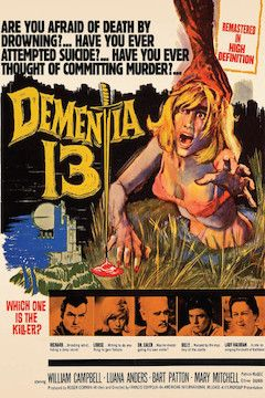 Dementia 13 movie poster.