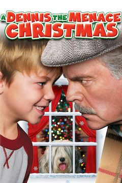 A Dennis the Menace Christmas movie poster.