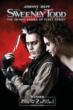 Sweeney Todd: The Demon Barber of Fleet Street movie poster.