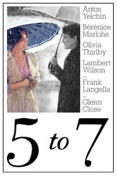 5 to 7 movie poster.