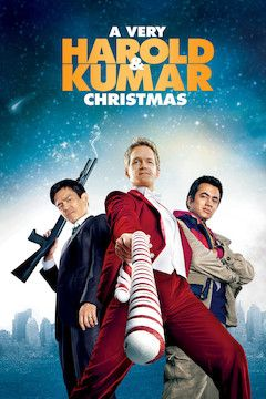 A Very Harold and Kumar Christmas movie poster.