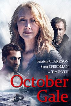 October Gale movie poster.