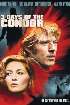 Three Days of the Condor movie poster.