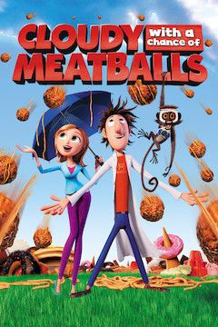 Cloudy With a Chance of Meatballs movie poster.