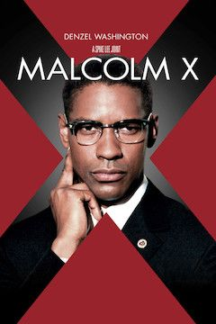 Malcolm X movie poster.
