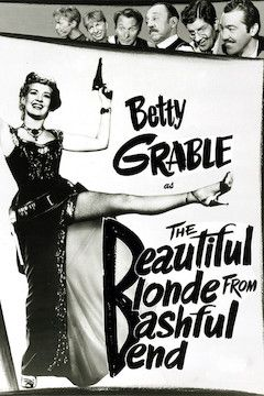 Poster for the movie The Beautiful Blonde From Bashful Bend
