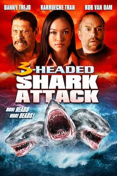 3-Headed Shark Attack movie poster.