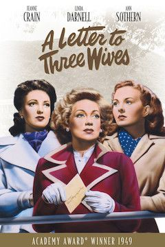 Poster for the movie A Letter to Three Wives