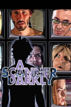 A Scanner Darkly movie poster.