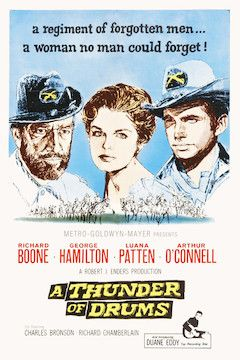 A Thunder of Drums movie poster.