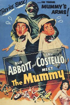 Abbott and Costello Meet the Mummy movie poster.
