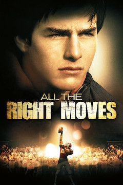 All the Right Moves movie poster.