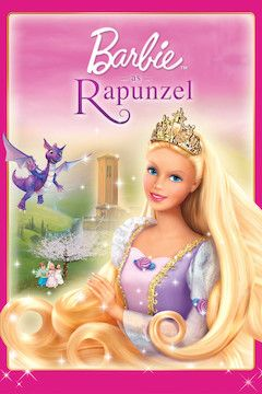 Barbie as Rapunzel movie poster.