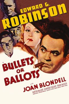 Bullets or Ballots movie poster.