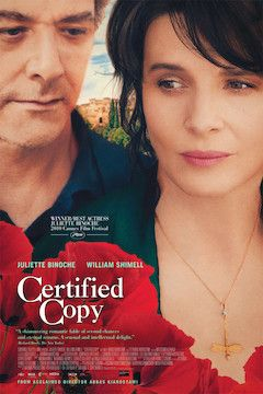 Certified Copy movie poster.