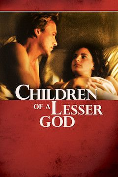 Children of a Lesser God movie poster.
