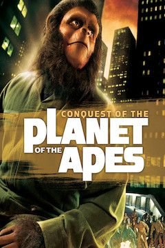 Conquest of the Planet of the Apes movie poster.