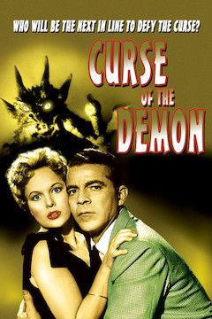 Curse of the Demon movie poster.