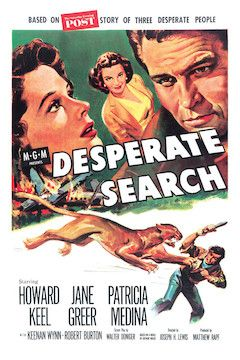 Desperate Search movie poster.
