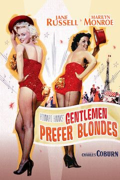 Gentlemen Prefer Blondes movie poster.
