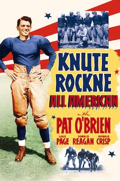 Knute Rockne: All American movie poster.