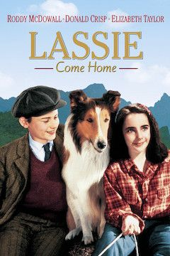 Lassie Come Home movie poster.