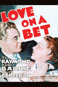 Love on a Bet movie poster.