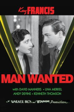 Man Wanted movie poster.