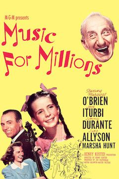 Music for Millions movie poster.