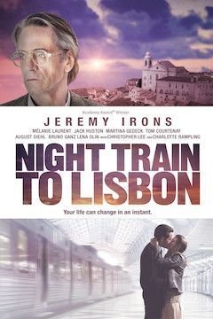 Night Train to Lisbon movie poster.
